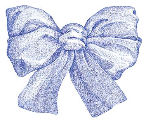 Blue Wallpaper Cut Out (Mc Call Wallies Wallpaper Cutouts 25/pkg-blue Bows 1-1/2