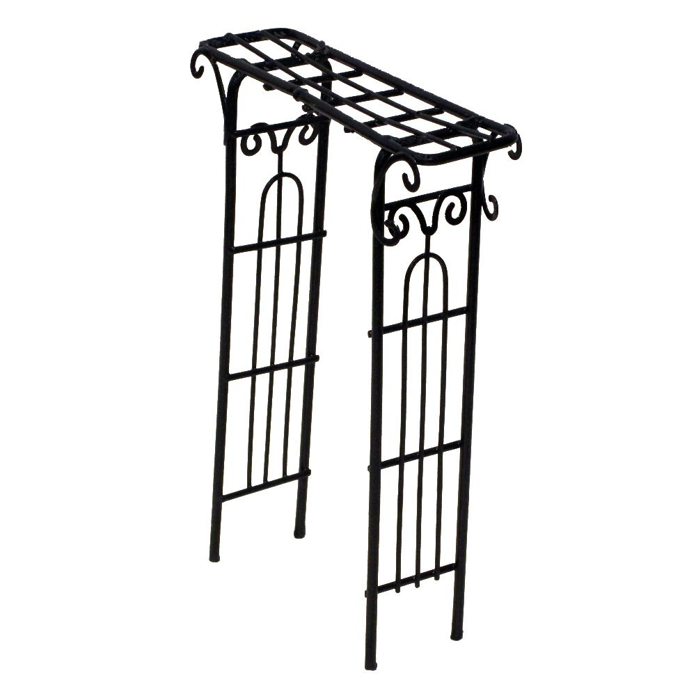 Provence AF3057 Iron Mini Fairy Garden Arbour, Black