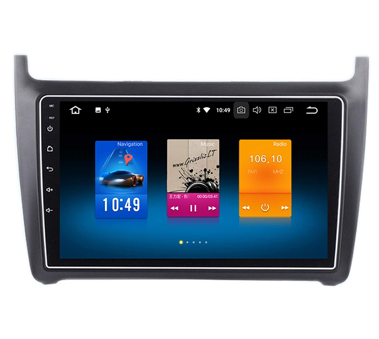 RoverOne 9' Android System Octa Core for Volkswagen Polo 2012 2013 2014 2015 2016 2017 Car Multimedia Player with Autoradio Stereo GPS Navigation Radio Bluetooth Mirror Link Touch Screen