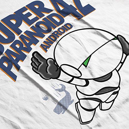 Super Paranoid Android 42 Hitchhikers Guide Mario Men's Baseball Long Sleeved T-Shirt