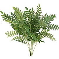 AILANDA 2 Pack Artificial Greenery Plant Outdoor Faux Silk Sophora Japonica Leaf Shrubs Bushes Farmhouse Flower…