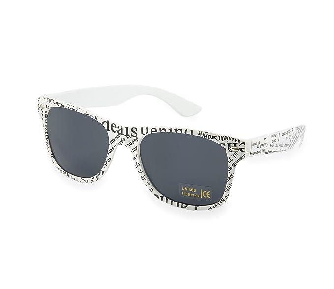 Lunettes de soleil unisexe homme Femmes Classic Fashion Retro 1980la Panthère Vintage Miroir Miroir - Blanc - grrB6wBi