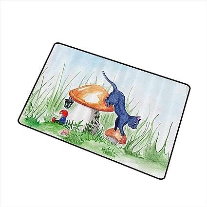 Amazon.com: Jbgzzm - Felpudo con diseño de animales, dibujos ...
