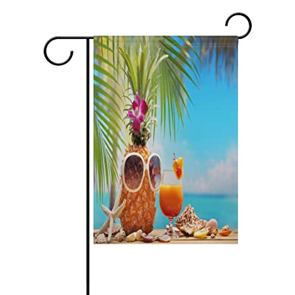 Amazon.com: ALAZA Tropical Fruit and Palm Tree Long ...
