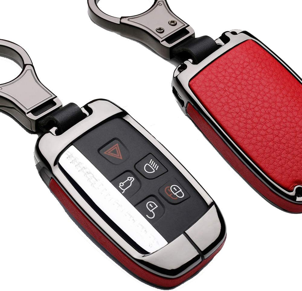 Gun red ZHAOZOUL Zinc Alloy Car Key Case Auto Key Protection Cover for Land Rover Jaguar XJ//XJL XEL//XE Car Holder Shell Colorful Car-Styling Accessories
