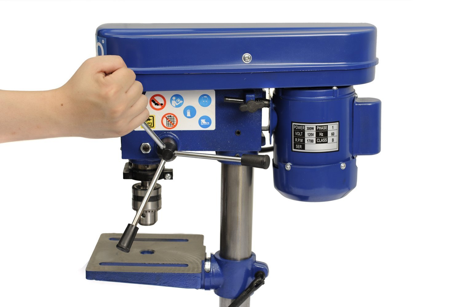 HICO Bench Top Drill Press - 8 Inch Adjustable Height, 5 Speed Motor, Cast Iron Table DP4113 by HICO (Image #5)