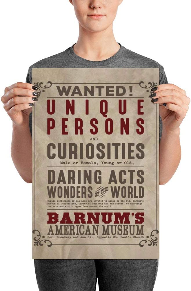 Amazon Com Wanted Unique Persons And Curiosities Poster The Greatest Showman Movie Vintage Typography Poster Printable Art Home Decor Wall Art P T Barnum Mother S Day Father S Day Present Gift Idea Posters