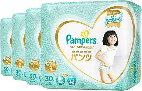 Pampers Premium Care Pants, Extra Large, Carton, 30 Count (Pack of 4)