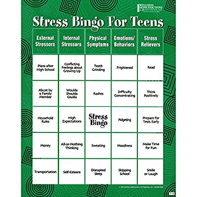 Stress Bingo for Teens: An Engaging and Educational Game About Stress and Ways to Reduce It: Toys & Games