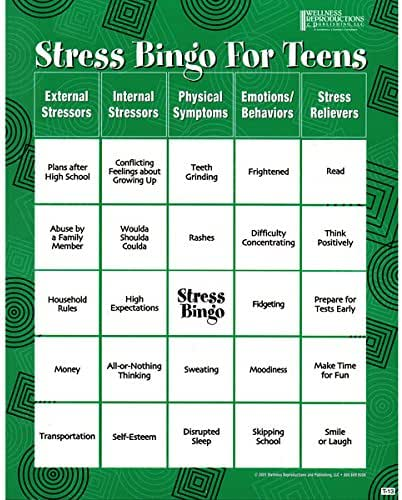 Stress Bingo for Teens: An Engaging and Educational Game About Stress and Ways to Reduce It