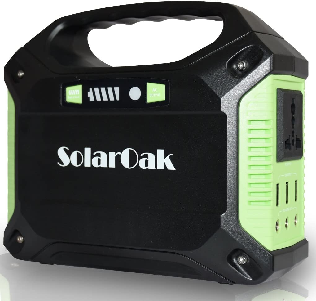 IPX4 Waterproof Solar Generator with 4 USB Ports Lithium Battery Backup for Outdoor Camping Travel Emergency Solar Panel Not Included Allsees 220Wh Portable Power Stations with Flashlight