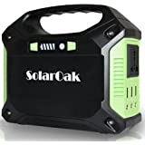 SOLAROAK Portable Generator Battery Pack Power Supply Solar Energy Storage Charged by 100W Solar Panel/Wall Outlet/Car with Dual110V AC Outlet,USB Ports5V/3A,DC Ports 9~12.6V/15A(150Wh/42,000mAh)