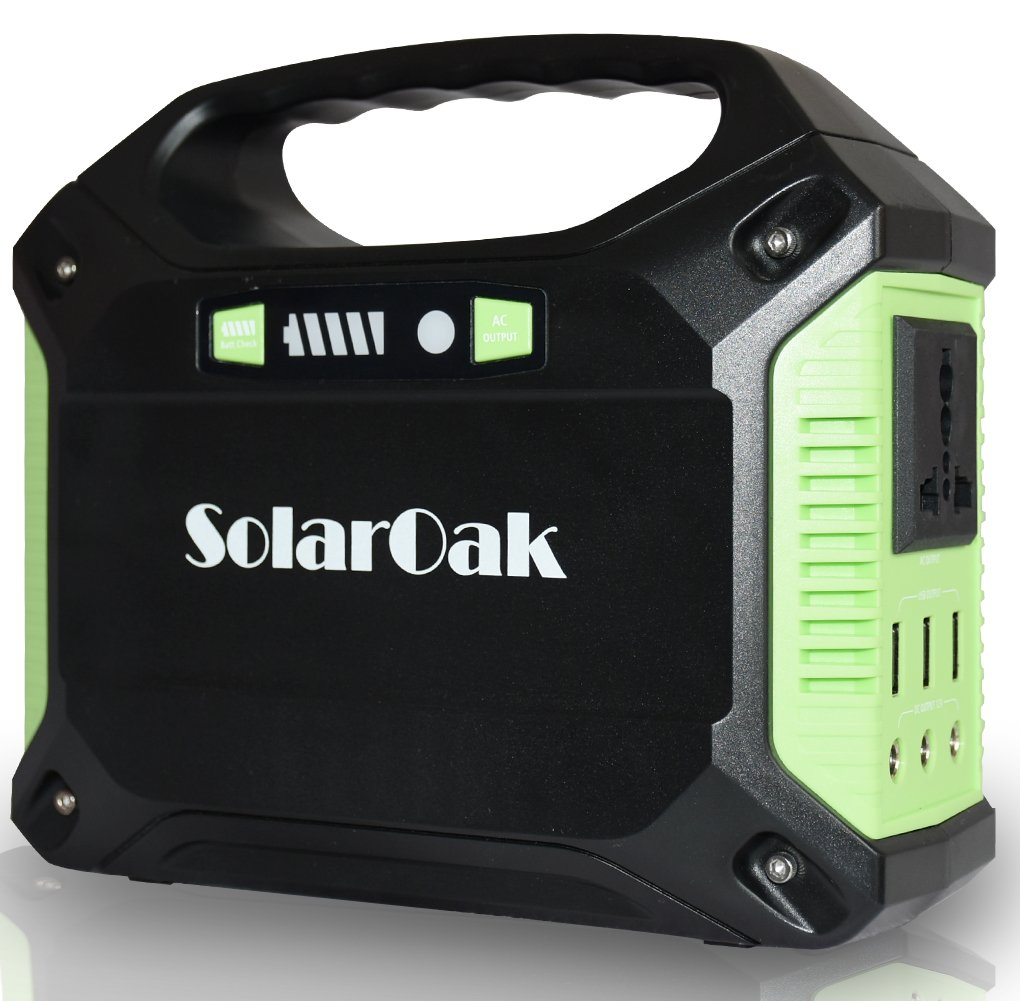 solaroak Portable Generator Battery Pack Power Supply Solar Energy Storage Charged by 100W Solar Panel/Wall Outlet/Car with Dual110V AC Outlet,USB Ports5V/3A,DC Ports 9~12.6V/15A(150Wh/42,000mAh) SolarOak Tech