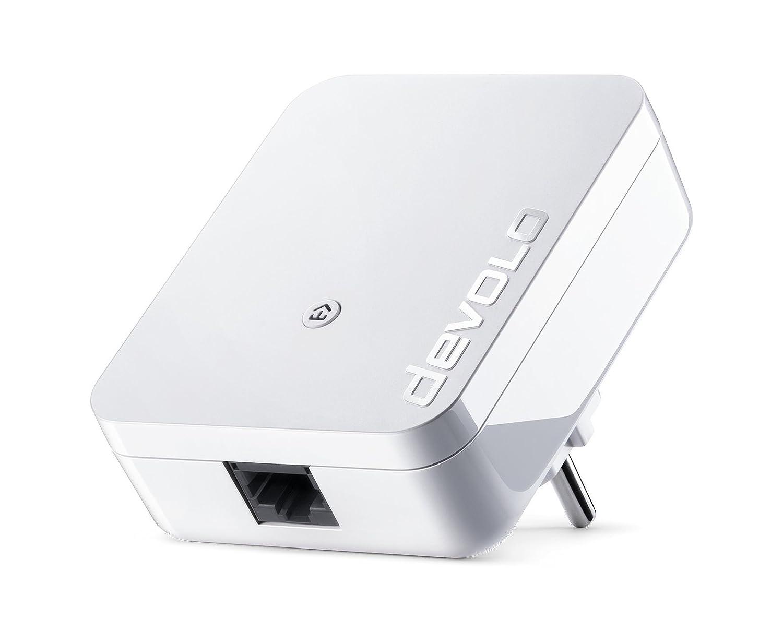 Devolo dLAN 1000 Mini - Adaptador (1000 Mbps por conexió n Powerline, Internet Mediante Toma de Corriente, 1 conexió n LAN, PowerLAN, Adaptador de Red PLC, Compacto y Potente) Blanco 1 conexión LAN Devolo AG 8145
