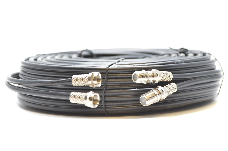 Cable coaxial de extensión de 50 m con Cable Doble de extensión de ...