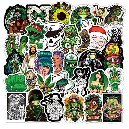 Weed Stickers for Adults 50 Pcak Vinyl Waterproof Stickers for Laptop,Bumper,Water Bottles,Computer,Phone,Hard hat,Cool…