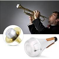 Alomejor Trompeta Silencio Ligera aleación de Aluminio Práctica de Trompeta Silenciador Silenciador de reducción de Ruido Accesorios para Instrumentos