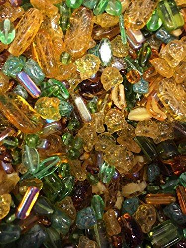 ModeBeads Earthtones Mix Czech Pressed Glass Beads 100 Grams /160pcs ()