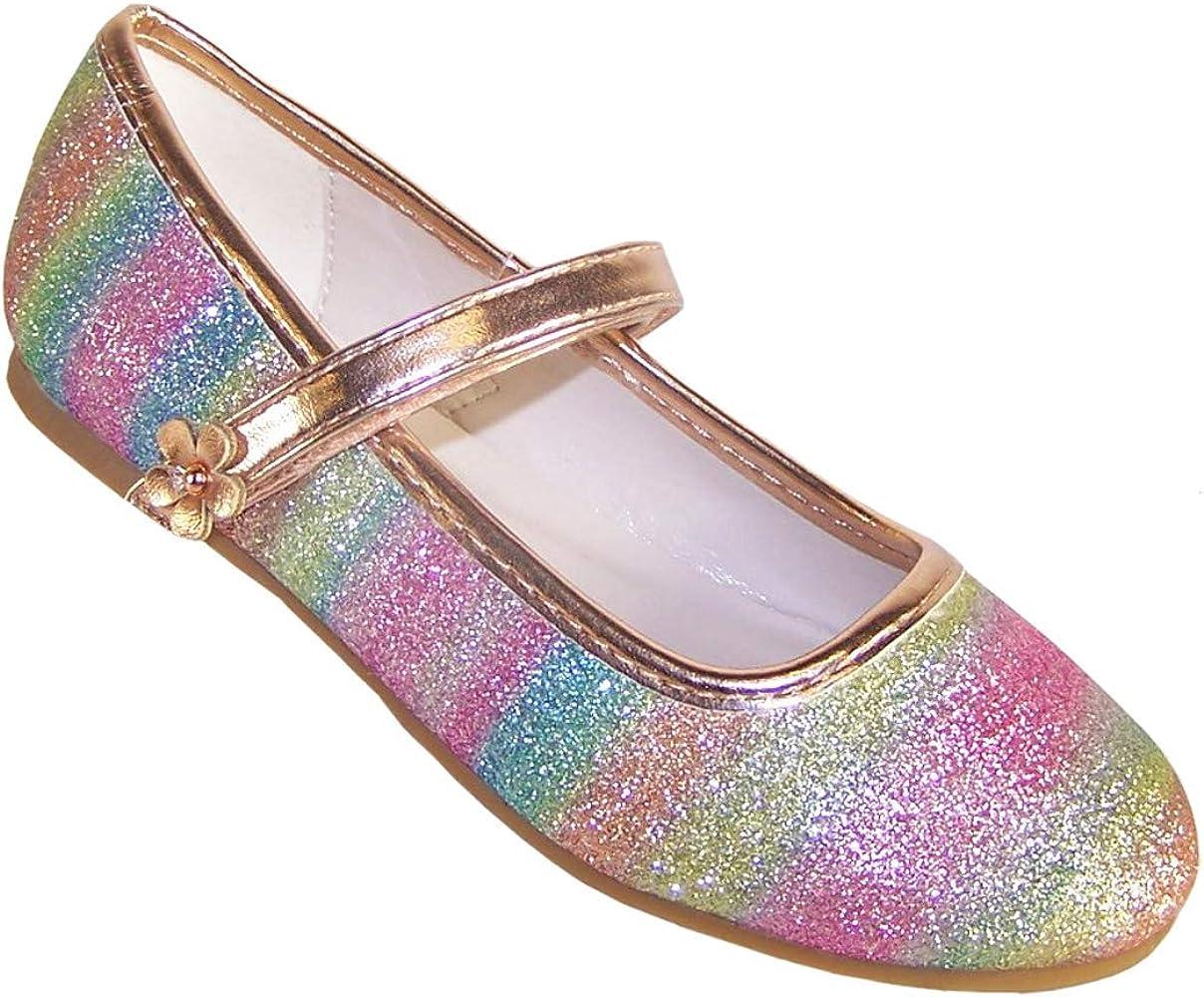 Girls' Kids Rainbow Colurs Fine Glitter
