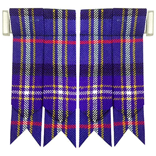 (New Solid Plain Black, Royal Stewart Tartan Many More Kilt Flashes Multi Colors (Masonic))