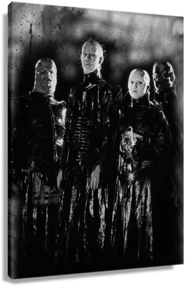 CZWZDY Hellraiser Horror Poster Decor for Bedroom Modern Contemporary Wall Art Painting Prints Giclee Artwork Bathroom Pictures Wall Decoration Vertical Canvas for Office Decorative Posters (24x36inch(60x90cm),Unframed)