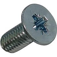 AERZETIX - 50 Verzonken bouten - M5x12mm - Verzinkt staal - Voetafdruk PZ2 - C18360