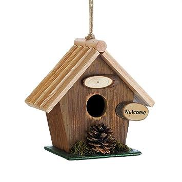 Songbird Valley - Casas de pájaros al Aire Libre, Cono de Pino de Madera para