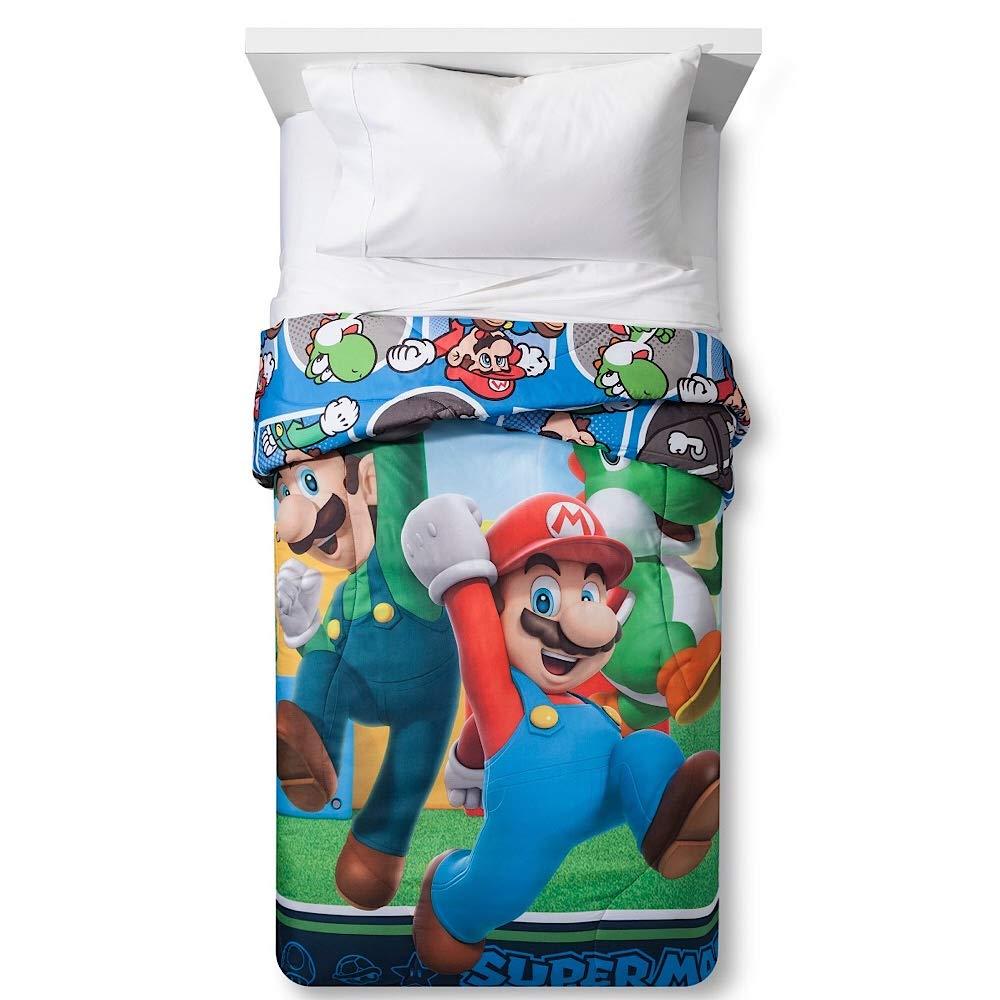 Super Mario Brothers Kids Twin Comforter