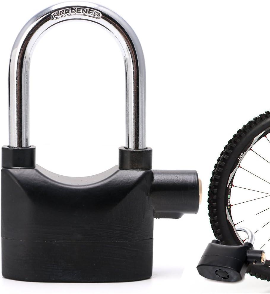 Waterproof Siren Alarm Padlock Alarm Lock for Motorcycle Short Beam Bike Bicycle