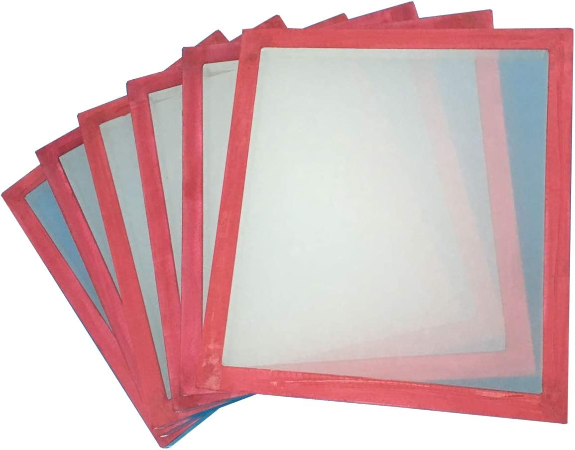 6 Pack 18x20 Screen Printing Frame with 180 White MESH