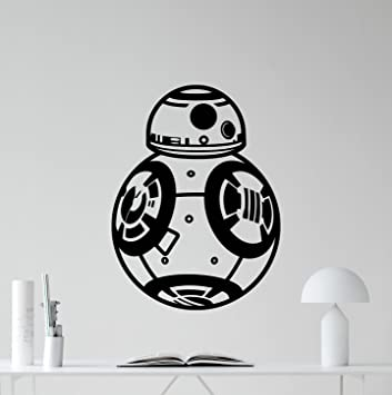 Bb 8 wall decal star wars bb8 droid robot character quote living room wall decals