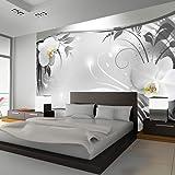 murando® Papier peint intissé 350x245 - 3 couleurs au choix - Top vente - Papier peint - Tableaux muraux déco XXL - fleurs orchidée ornement abstraction b-A-0078-a-b