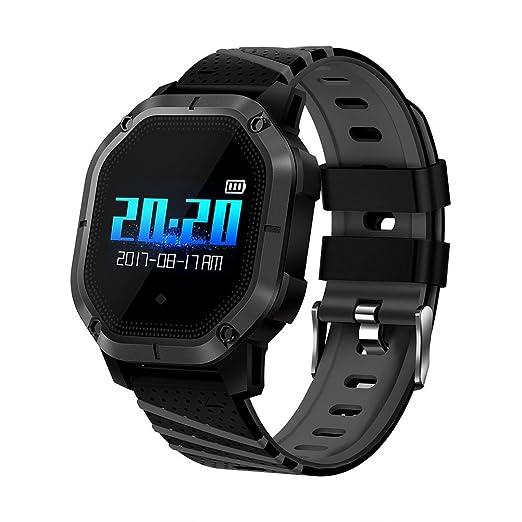 NICERIO Reloj Inteligente a Prueba de Agua K5 Smartwatch Color IP68 con Monitor de Ritmo cardíaco Sleep Monitor de frecuencia cardíaca (Negro)