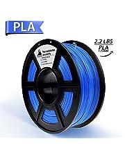 PLA Filament, 3D Hero PLA Filament 1.75mm,PLA 3D Printer Filament, 3D Printing Materials, Dimensional Accuracy +/- 0.02 mm, 2.2 LBS(1kg),1.75mm Filament,Blue