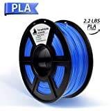 PLA Filament, PLA Filament 1.75mm,PLA 3D Printer Filament, 3D Printing Materials, Dimensional Accuracy +/- 0.02 mm, 2.2 LBS(1kg),1.75mm Filament,Blue