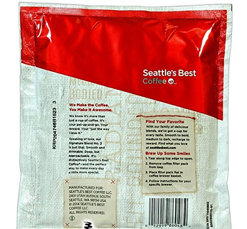 Seattle's Best Level 3 DECAF - 4 Cup Filter Pack Coffee - 120 / Case