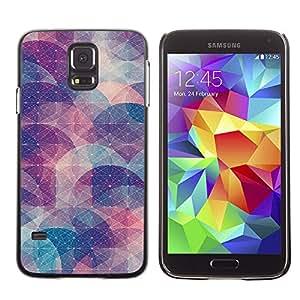 PC/Aluminum Funda Carcasa protectora para Samsung Galaxy S5 SM-G900 Abstract Shape Pastel Pattern / JUSTGO PHONE PROTECTOR