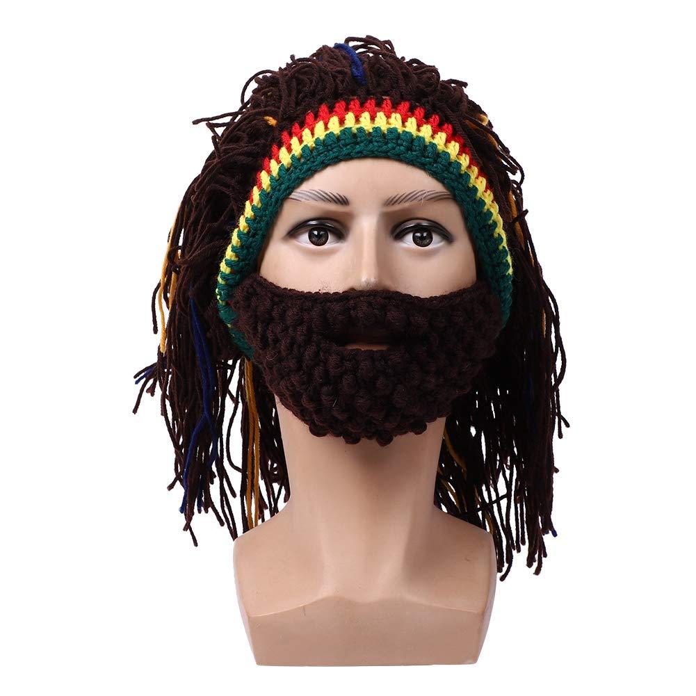 5df4195636714 VGEBY Wig Beard Hats