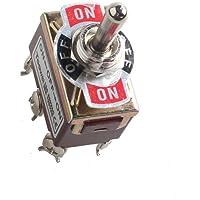 Mintice™ Interrupteur Inverseur à Bascule momentané Levier en Métal ON/OFF/ON 6 Terminal Pin DPDT Poids Lourd 20A 125V 15A 250V Voiture Moto