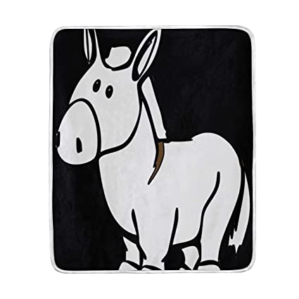 Amazon Com Donkey Drawing Luxury Fleece Woolen Blanket Plush