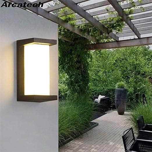 GYBYB Lámpara de pared a prueba de agua al aire libre LED 10W ...