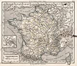 1872 School Atlas | 21. Frankreich. (France.) | Antique Vintage Map Reprint