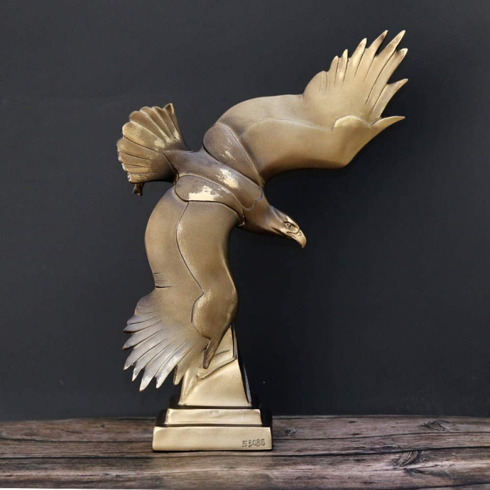 Lrenkey Statuette Figurines,Handmade Polyresin Fish Catching Hawk Statue,Vintage Flying Eagle Sculpture,Falcon Decor Gift and Craft Ornament Furnishing
