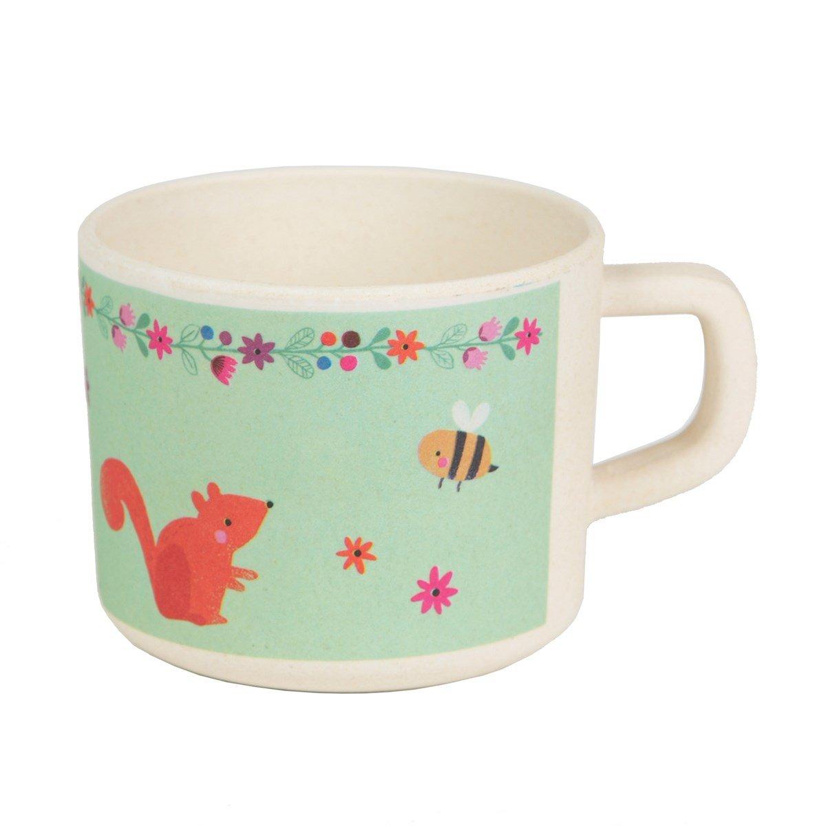 'Joli petit mug Animaux de la forêt avec poignée–8x 7cm sass & belle