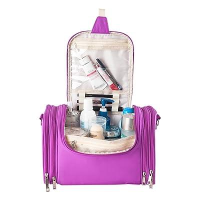 Elfremore Waterproof Hanging Toiletry Bag, Travel Cosmetic Bags with Durable Hanging Hook
