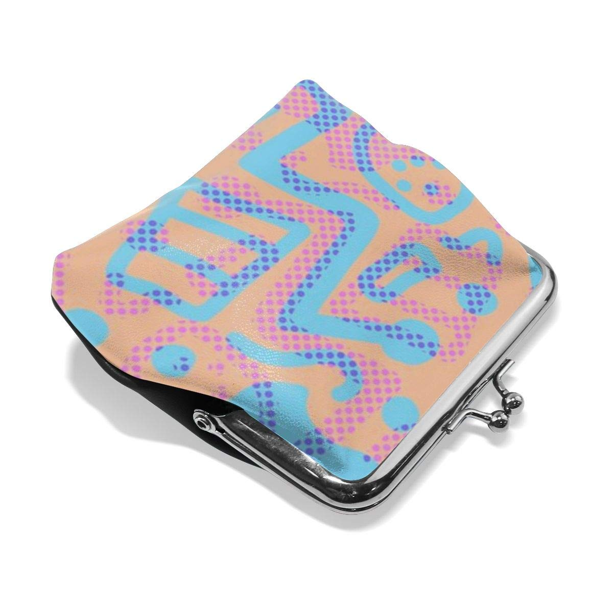 TYDhey Coloful Dots Pattern Classic Buckle Coin Purses Leather Kiss-Lock Change Wallets