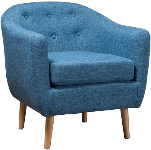 Navaro Muted Blue Fabric Metropolitan Club Chair