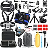 HAPY Sports Action Professional Video Camera Accessory Kit for GoPro Hero6,5 Black, Hero Session,HERO (2018),HERO 6,5,4,3,3+, GoPro Fusion,SJCAM,AKASO,Xiaomi,DBPOWER,Camera Kit