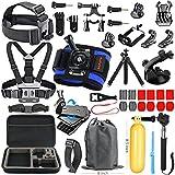 Photo : HAPY Sports Action Professional Video Camera Accessory Kit for GoPro Hero6,5 Black, Hero Session,HERO (2018),HERO 6,5,4,3,3+, GoPro Fusion,SJCAM,AKASO,Xiaomi,DBPOWER,Camera Kit