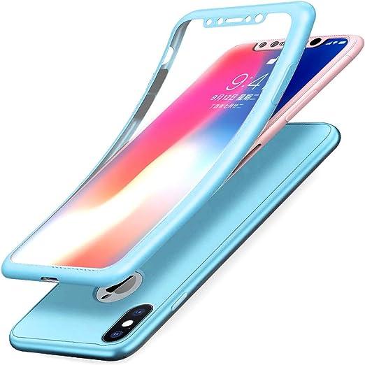 Funda Doble iPhone XR Silicona Delantera y Trasera - 4 Colores